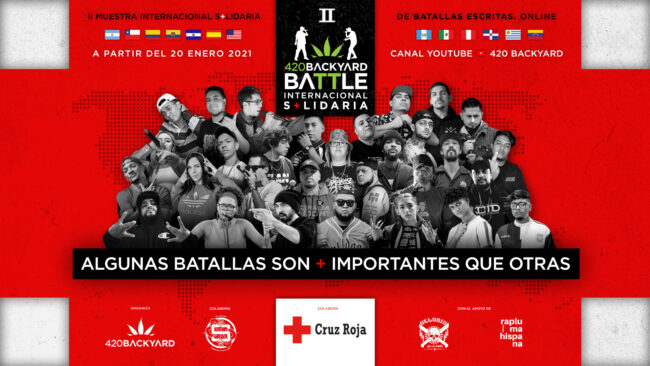 420 Backyard Battle Internacional Solidaria: II Muestra de batallas escritas de rap en beneficio de Cruz Roja